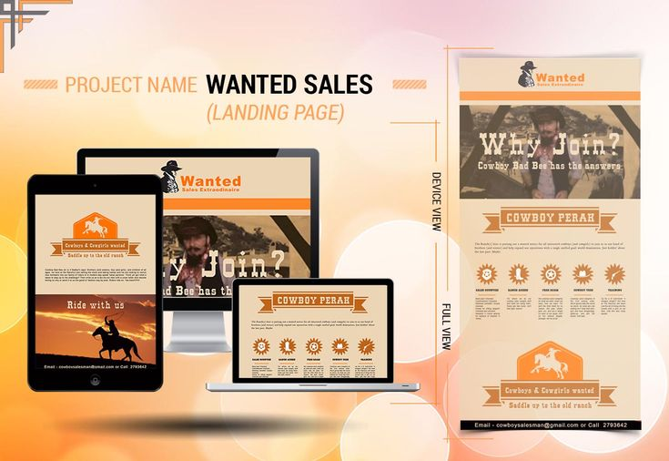 Landing Page Design of Wanted Sale #Webdesign