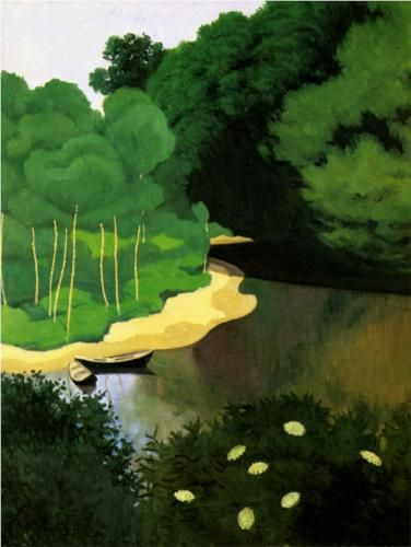 Felix Vallotton The Dordogne with Carennac - La Dordogne a Carennac Completion Date: 1925 Style: Magic Realism Genre: landscape Technique: oil Material: canvas Dimensions: 73 x 60 cm