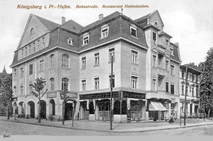 Königsberg, Bahnstraße Restaurant Hufenlauben