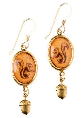 Squirrel Power Earrings: SKWERLZ!