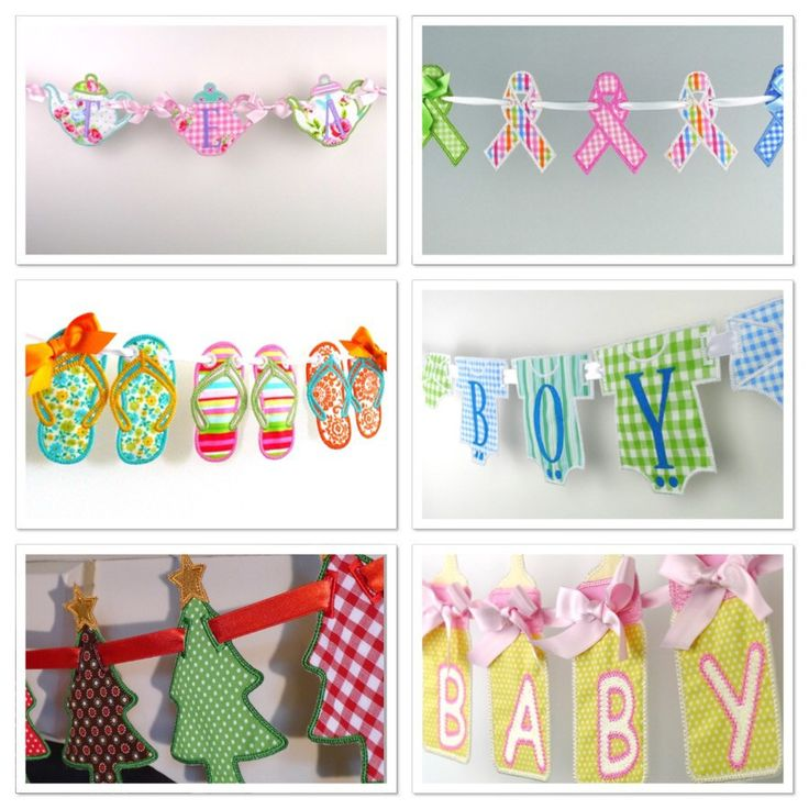 Fabric bunting various styles