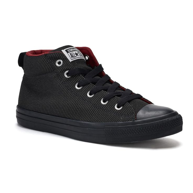 Men's Converse Chuck Taylor All Star Street Mid Sneakers, Size: 12, Black