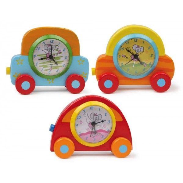 Orologio «Automobile»  Orologio decorato con disegni di topini che si trovano nelle automobili colorate.