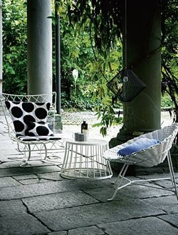 Chairs Inout 109 and Sweet 27 designed by the very creative Paola Navone for Gervasoni