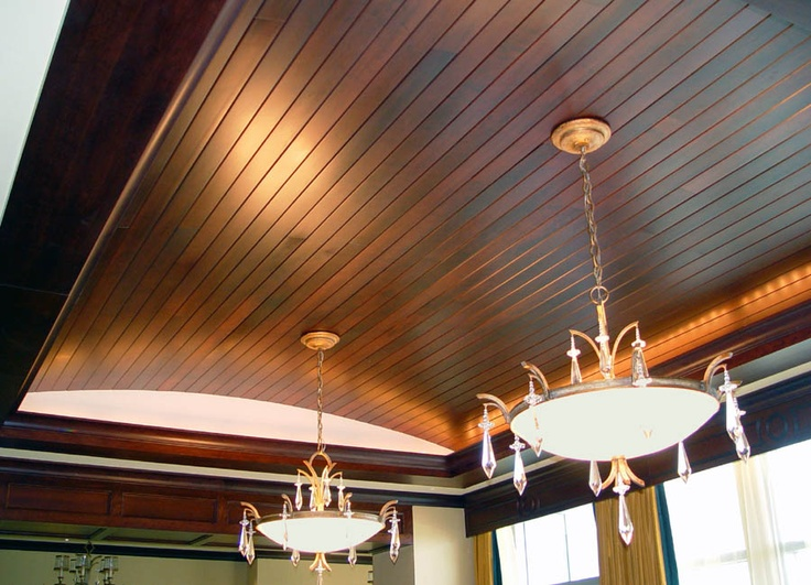 Cherry wood barreled ceiling dream home pinterest for Barrel ceiling ideas