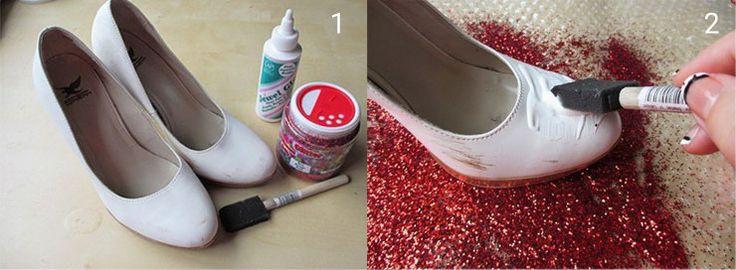 Diy shoe decorating ideas diy do it yourself for Diy shoes design