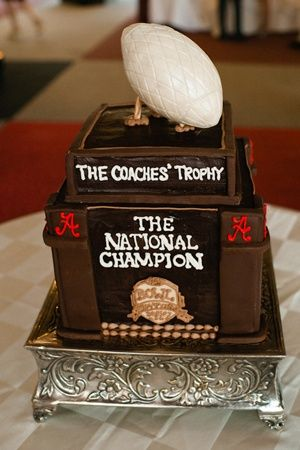 Coaches' Trophy Groom Cake