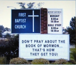 Well how about that... If you think about it this sign is telling you the Book of Mormon is true!!! That's why we have free agency!