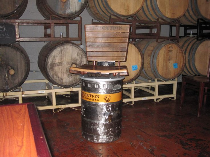 Bar Stool Beer Keg Wine Barrel Evolution Brewery Amber