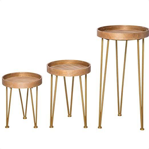 Bushman 3 Piece Nesting Tables Nesting Tables Wood Accent Table Table 3 piece nesting tables