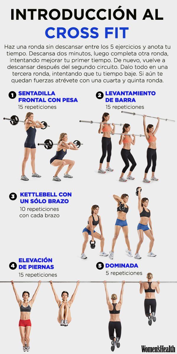 5 movimientos para iniciarte al CrossFit | Fitness | Women's Health