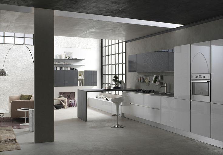 #Cucina #Jazz : solida, pratica, funzionale. Componenti robuste e forme semplici che danno forza alle finiture.  #design #style #kitchen