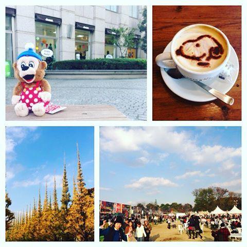 Instagram media chimakichimaki - *2015.11.30* * みーやんとデート 息子は父さんと多摩動物公園で楽しんでる様子 * #ラスムスストア#ラスムスクルンプ #RASMUSKLUMP #スヌーピーカフェ#タワレコ #外苑銀杏並木#いちょうまつり