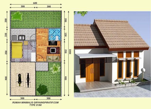 Rumah Type 21 : Pengertian, Denah, Harga | Desain rumah ...