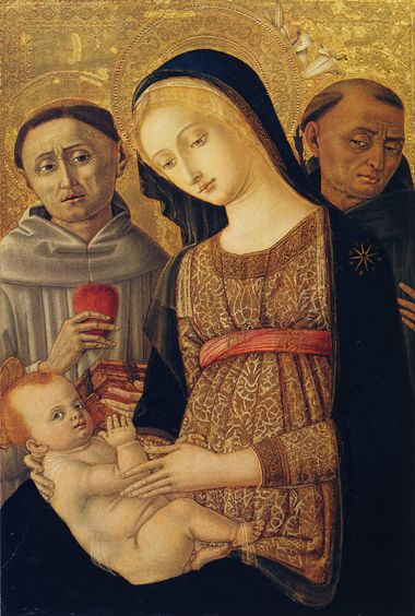 http://museolia.spezianet.it/images/opere/inv_167_big.jpg Matteo di Giovanni Madonna with Child and Saints end of 15th century.