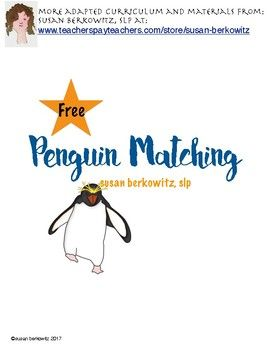 Did you know April 25th is World Penguin Day?  Or that not all penguins live in cold waters?  I have an informational interactive books and activities resource that you can find HEREThis  FREE  resource offers 2 different activities.&Bull file folder matching activity - match the identical penguins&Bull card matching game - a memory-type card game to match large and small penguins.You might like other informational texts in my store in this category