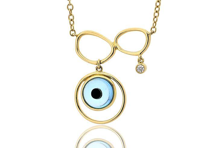 Κολιέ με διαμάντι μπιργιάν κοπής 0,035CT από κίτρινο χρυσό 18Κ. Necklace with brilliant cut diamond 0,035CT made by 18K yellow gold. Price : 700 €