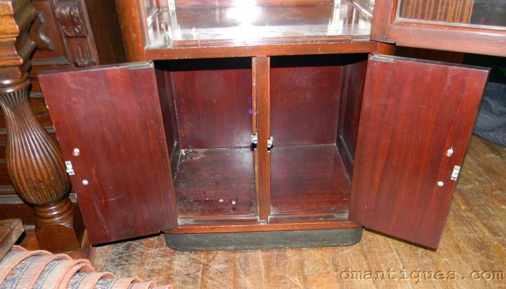 ANTIQUE ART DECO MAHOGANY GLASS DENTAL DOCTORS STORAGE CABINET GARCY P&M CHICAGO | eBay