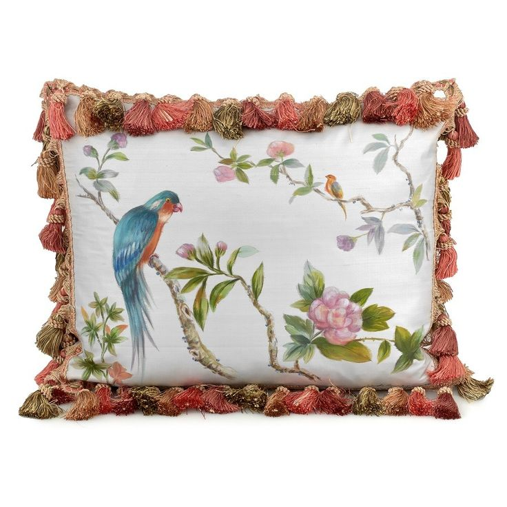 Silk Parrot Pillows Pillows Home Decor Accessories