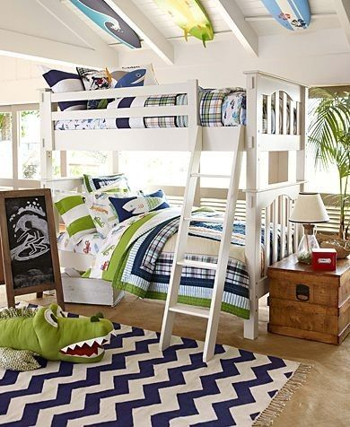 Love this for Rylan and the baby, except with a toddler bed and crib.