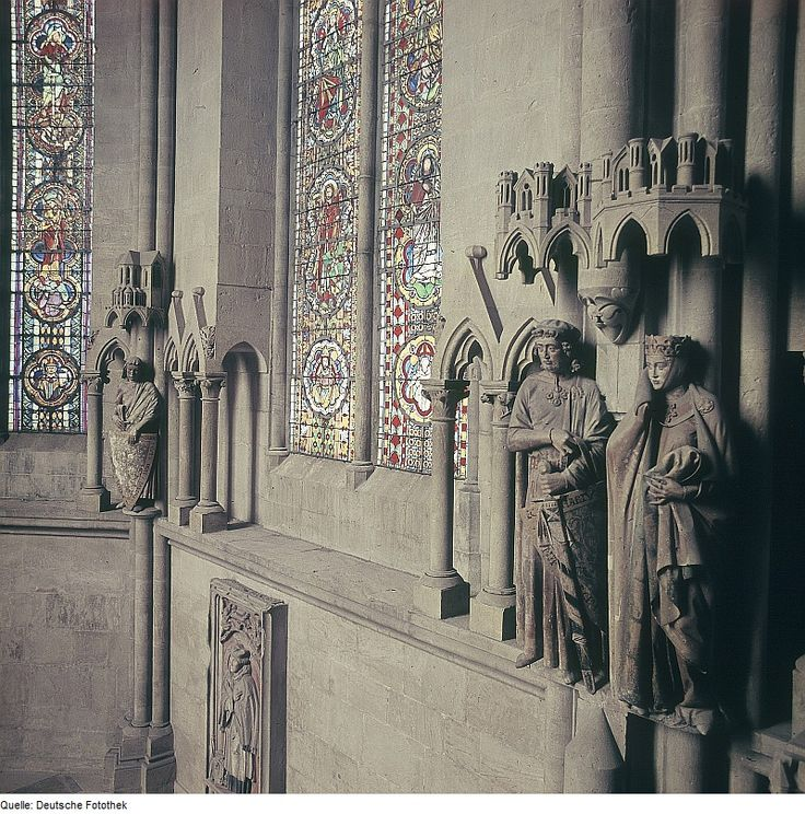 Uta von Naumburg bequeathed her fortune to build this German church, where we see a life-sized statue of her standing beside her husband. A different photo of this statue will show better another interesting fact about Uta: she is said to be the most beautiful woman of her time.