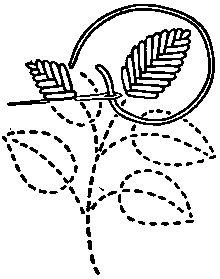FLAT STITCHES: vocabulary 2: Fishbone Stitch by Mrs. A. Christie London 1920