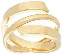 Dieci Polished Wrap Ring 10K Gold - J332259