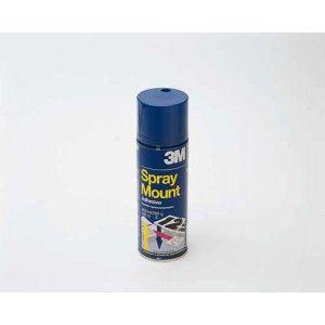 Adhesivo 3M Spray Mount (Adhesivo reposicionable) Adhesivo transparente que permite pegar y despegar en las primeras 24 horas de la aplicación. Bote de spray de 400 ml.
