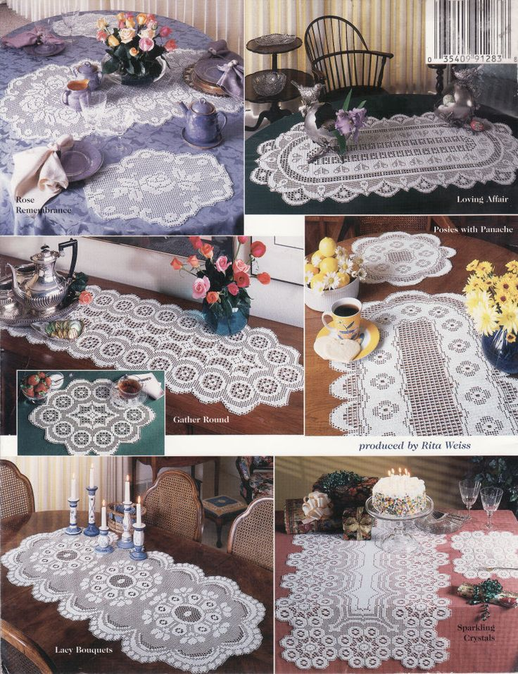 crocheted runner   Easy Crochet Pattern for Fall Placemats and a Table Runner