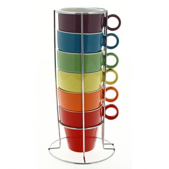 Colourful & Stackable Coffee Cups