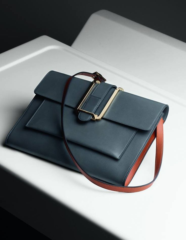 "Chloé Winter 2014 Accessories ""Bronte"" medium messenger bag with removable strap in box calfskin"