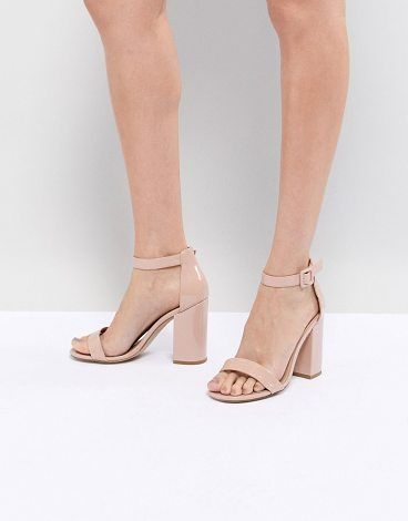 5a0aad20cc6312 Barely There Patent Block Heel Sandal by New Look. Heels by New Look ...