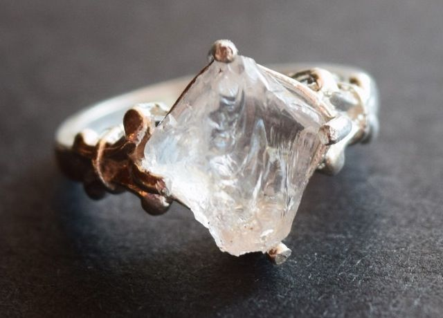 raw diamond engagement ring. (Click through for 15 unique engagement rings.)