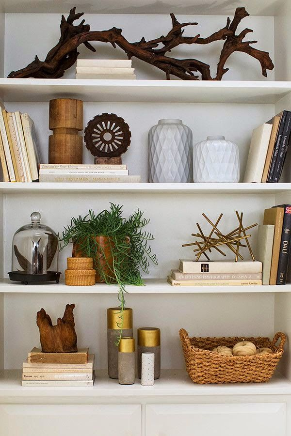 Natural Elements - Interior trend for Spring bookcase