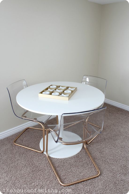 Chrome Chairs Go Gold A Game Table How To Spray Paint