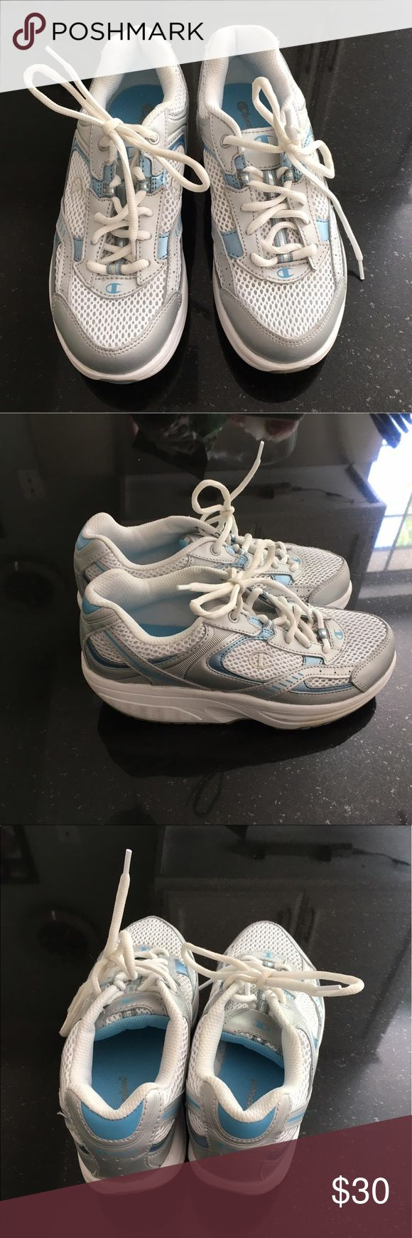 Champion sneaker / Ergonomic Shoes Champion sneaker / Ergonomic Shoes, white, skid-resistant, worn only once, like new condition. Size 7. Champion Shoes Sneakers
