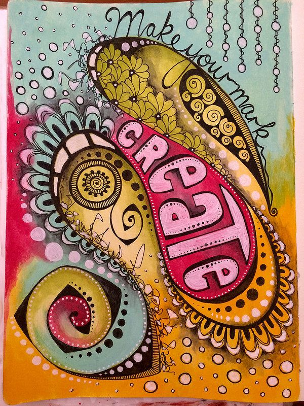 Doodle art journal page | by Tr4cy1973