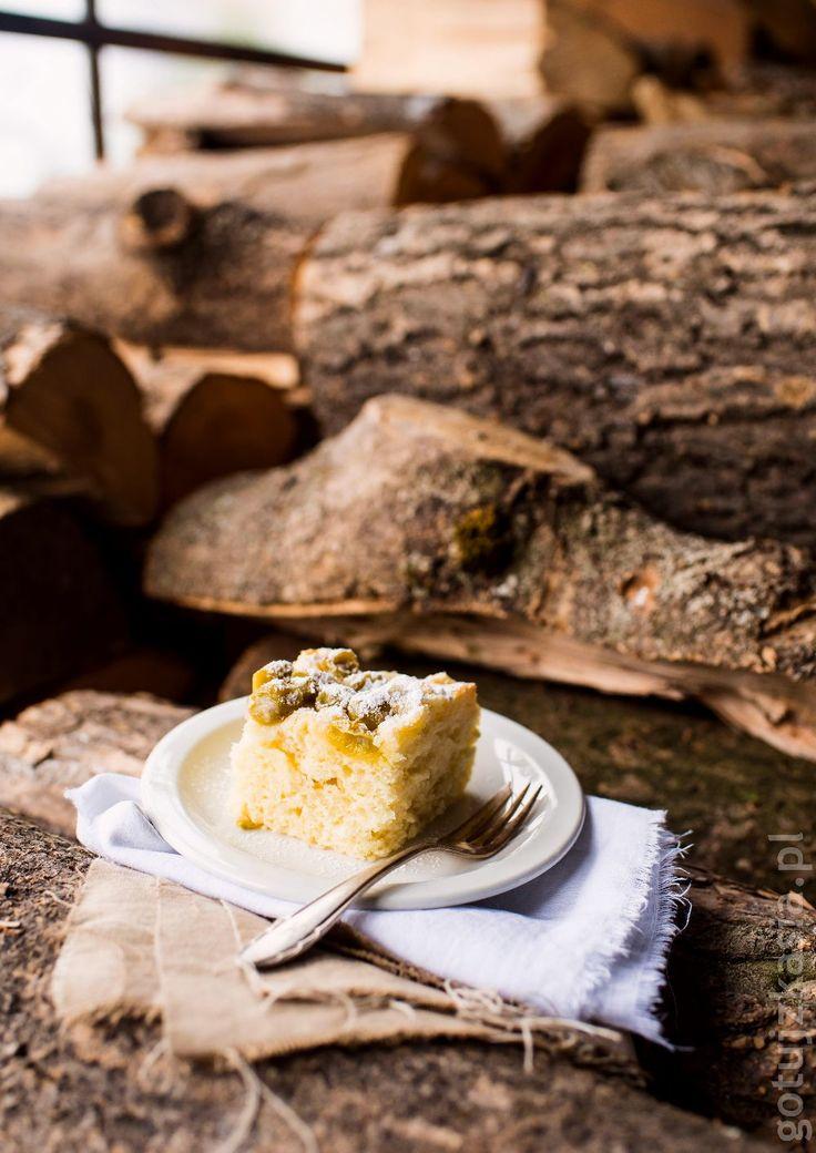 Ciasto z agrestem i kruszonką