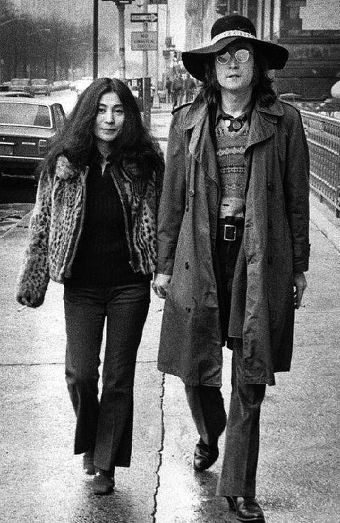 John Lennon and Yoko Ono, New York City, 1973. Photo by Bob Gruen.