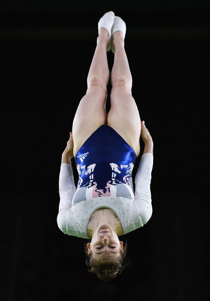 Bryony Page of Great Britain competes during the Trampoline Gymnastics Women's Final on Day 7 of the Rio 2016 Olympic Games at the Rio Olympic Arena on August 12, 2016 in Rio de Janeiro, Brazil.