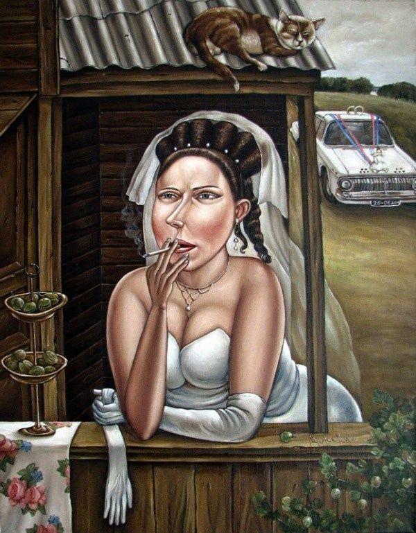 Машина времени: картины донецкой художницы, которые отправят в детство [ФОТО]