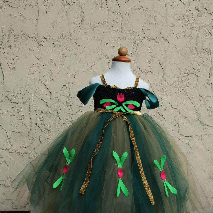 Halloween Costume Frozen Anna Green Dress   Anna by BloomsNBugs