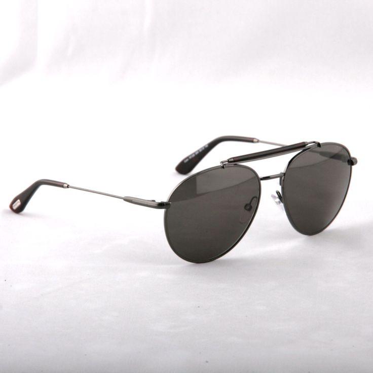 TOM FORD -Colin TF338 09N Aviator GUNMETAL GREEN Sunglasses
