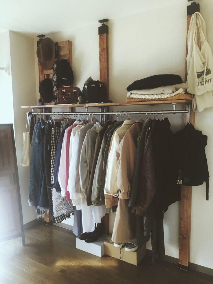 壁面収納!古着屋さんみたいなハンガーラック │ POST │ 自分らしいDIYスタイルを追求するウェブMAG │ DIYer(s)