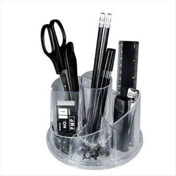 SET PORTATUTTO GIREVOLE Desk-set girevole in plexiglass completo di accessori Desk-set da tavolo, accessori inclusi