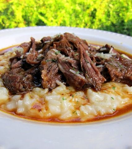 Italian Pot Roast & Parmesan Risotto - the BEST pot roast recipe. This is the only pot roast we will eat