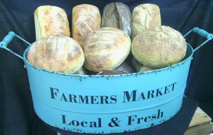 Our fresh wood oven sourdough bread at the Riverland Farmers' Market