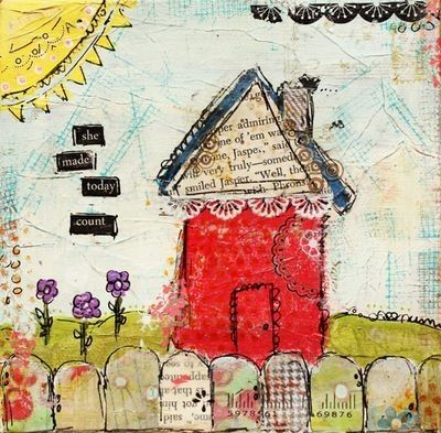 journal: Today Counted, Journals Covers, Journals Inspiration, Houses Journals, Art Inspiration, Art Journals, Journals Ideas, Art Houses, Counted Prints