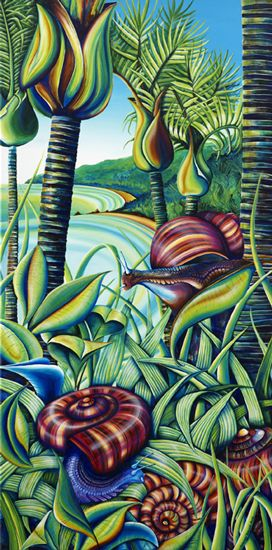 Snails on the Heaphy Track.  A limited edition of 10 prints.  Available now!