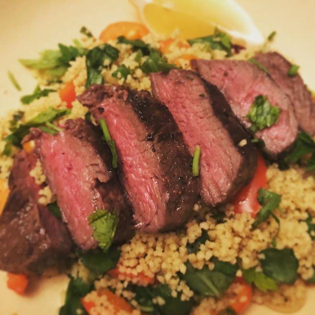 @hellofreshuk Moroccan steak with lemon couscous #hellofreshsnaps #homemadefood #steak #happyfriday #foodie #instafood #おうちごはん #ステーキ #肉 #ハッピーフライデー #インスタフード